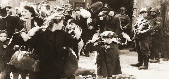 Nazi soldiers spreading terror