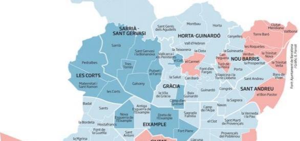 Mapa de salud en los barrios de Bcn