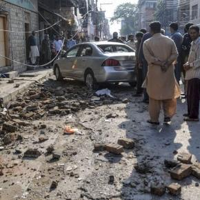 Streets in Kabul after earthquake