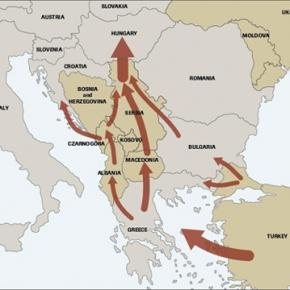 The so-called western Balkans route to Germany