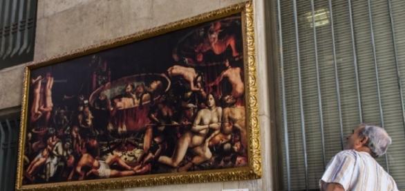 """Cópia de """"O Inferno"""" foi roubada."""