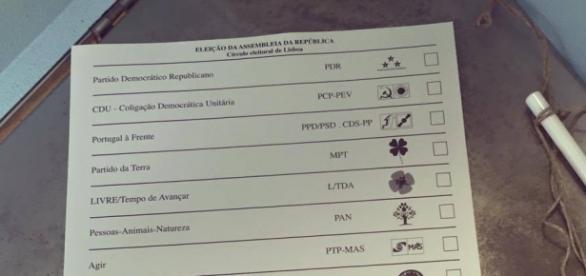 Portugueses vão a voto durante o dia de hoje