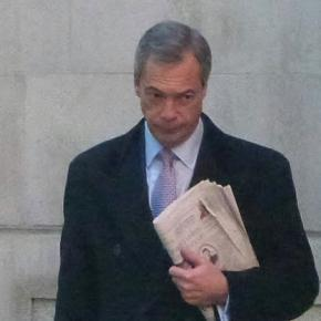 Ukip leader Nigel Farage in Westminster