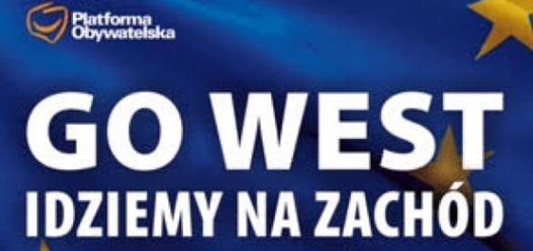 Go WEST, idziemy na zachód - hasło PO