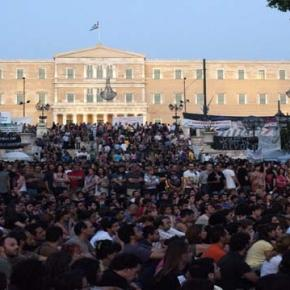 Greek workers strike against austerity measures.