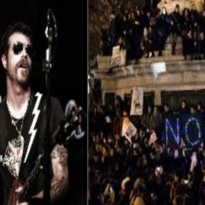 Jesse Hughes of Eagles of Black Metal in Paris