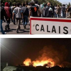Tabăra de refugiaţi din Calais a fost incendiată