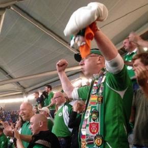 Delight for the Irish football fans in Dublin
