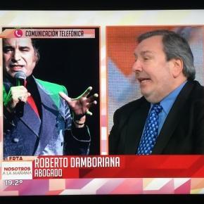 Programa Nosotros a la mañana. Roberto Damboriana.
