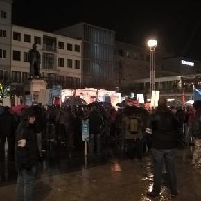 Etwa 300 AfD-Demonstranten waren vor Ort.