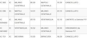 Sciopero treni del 27 novembre: fasce orarie di garanzia