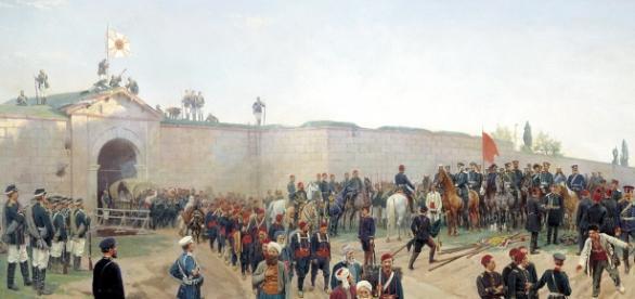 Capitularea turcilor la Nicopole