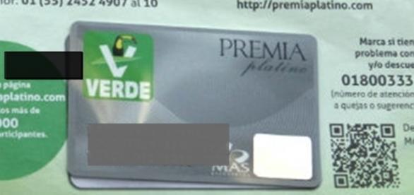 Tarjetas de descuento entregadas por el PVEM