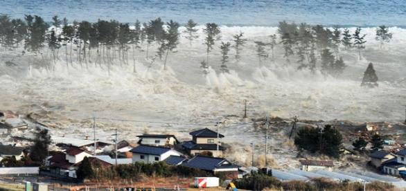 Consequência de um terramoto no Japão