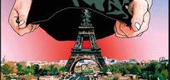 """Okładka """"Uległości"""" Michela Houellebecqa"""
