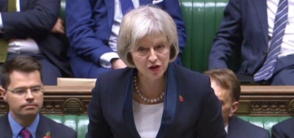 Home Secretary Theresa May introducing the Bill