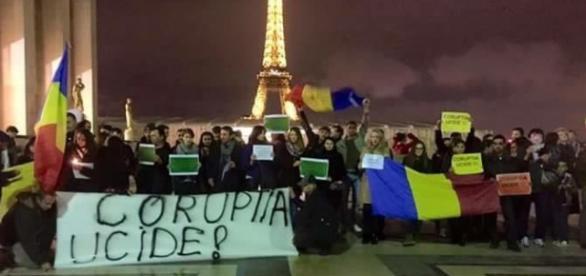 Solidaritate la Paris, în Franţa foto: Facebook