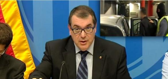 Jordi Jané en la rueda de prensa del viernes