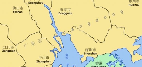 A map of Hong Kong (Wikipedia)