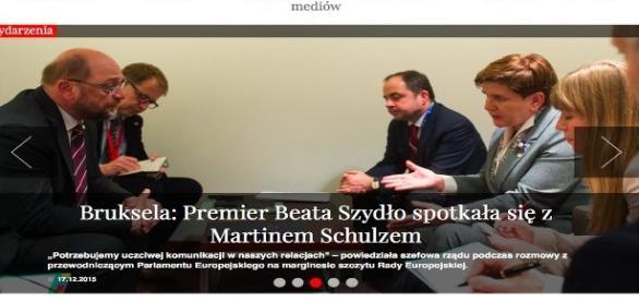 Pemier B. Szydło rozmawiała z M. Schulzem