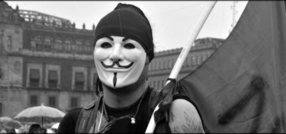 Miembro de Anonymous. Foto: Mitzi Vera