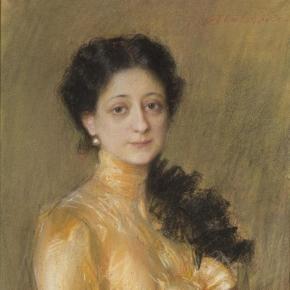 T. Axentowicz. Portret pani P. pastel MN