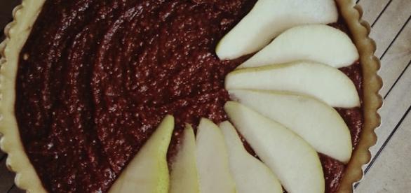La crostata di pere e cioccolato