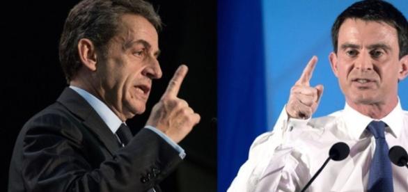 Nicolas Sarkozy et Manuel Valls