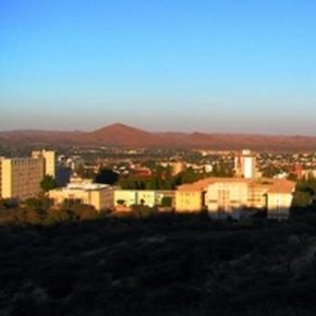 Windhoek. Main city in Namibia. By J Flowers