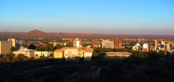 Windhoek. Main city in Namibia. By J Flowers