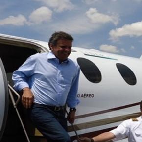 Aécio em mais um escândalo de aviação