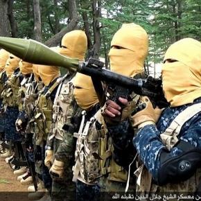 Combatanţi ISIS într-o locaţie de antrenament