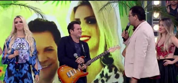 Ximbinha no Domingo Show (Reprodução/Record)