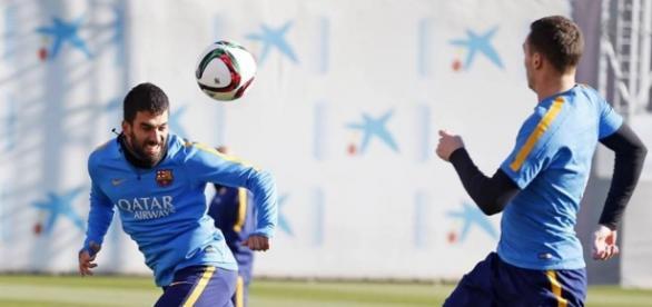 Arda Turan im Training beim FC Barcelona