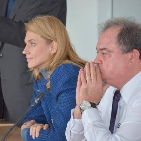 Copreședinții Alina Gorghiu și Vasile Blaga