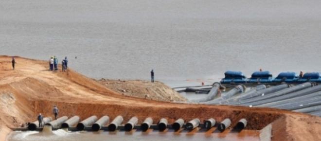 Bombas captam água do Sistema Cantareira (Foto - Reprodução)