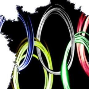 La France avec les anneaux olympiques