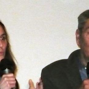 Gianni Di Gregorio et la productrice du film