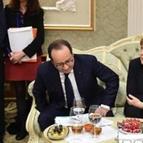 Putin, Hollande, Merkel and Poroshenko in Minsk
