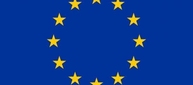 Fahne der Europäischen Union.