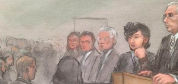 Tsarnaev et ses avocats .