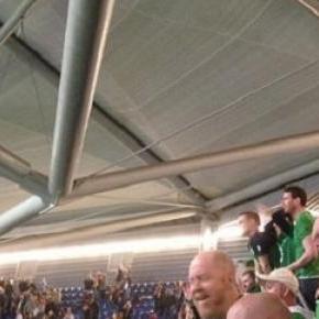 Irish fans were celebrating once more against UAE