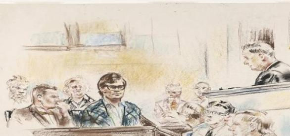Court artists drew blank faces for the witnesses