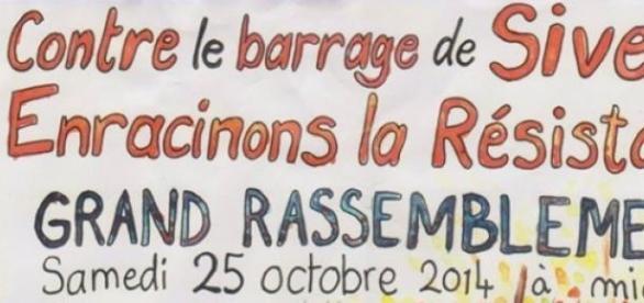Haut d'affiche de l'appel à la mobilisation