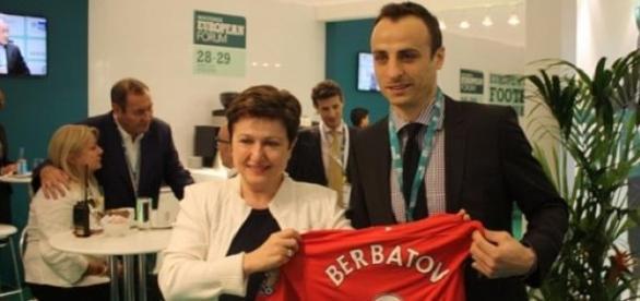 Berbatov was among the goalscorers for Monaco