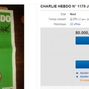 Charlie Hebdo a vendre sur eBay