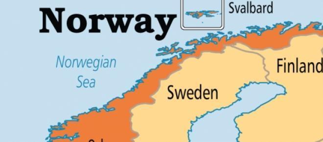 Mapa: Noruega | Capital: Oslo