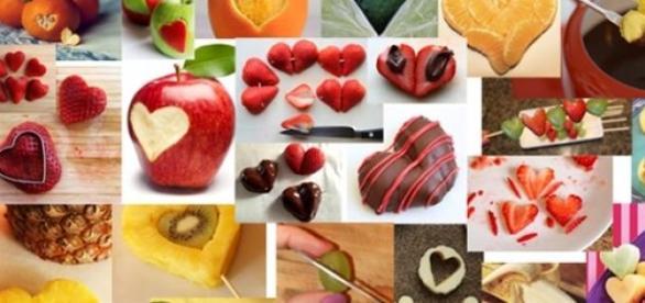 San valentino idee facili in cucina tagliare la frutta a forma di cuore - Idee tavola san valentino ...