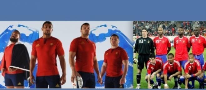 L'équipe de France en rouge face à l'Ecosse