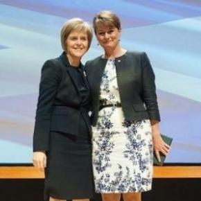 Leanne Wood and Nicola Sturgeon